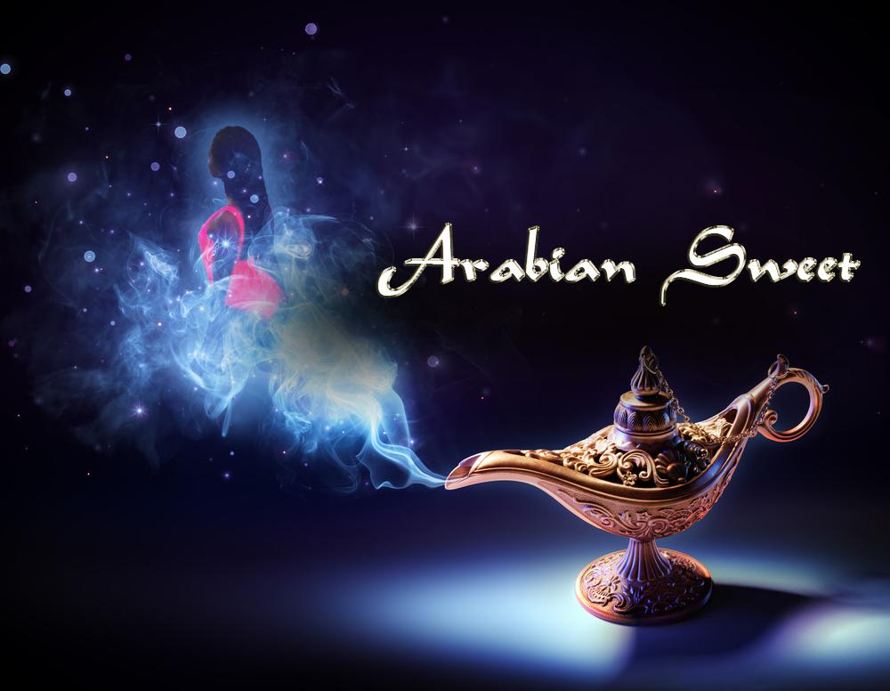 Arabian-Sweety-Lampla-cu-gold-text-